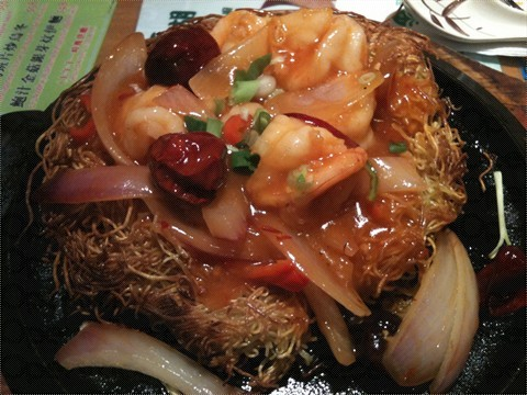 HK Tsui Wah Restaurant King Prawn Fried Noodle
